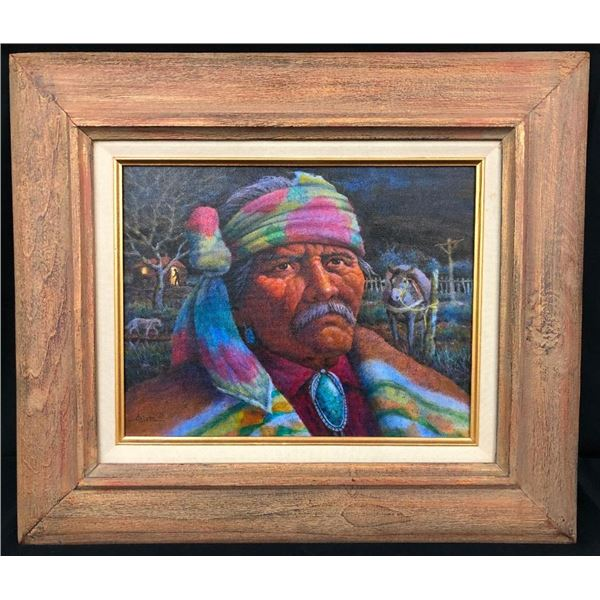 Original Oil Painting- Old Man with a Burro