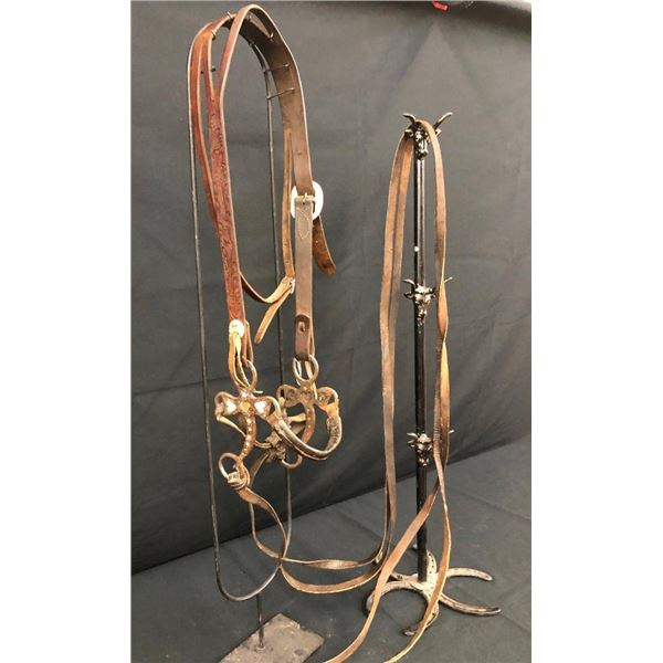 Possible Texas Prison Made Hackamore with Leather Cowboy Headstall