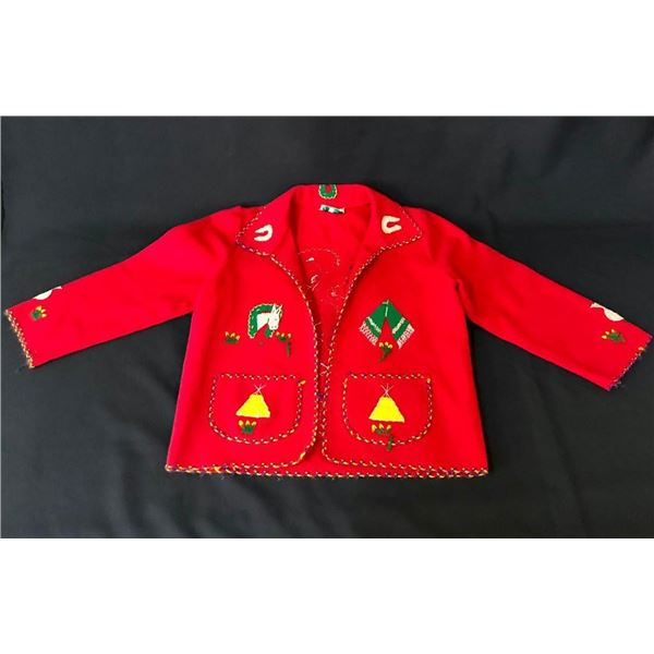 Vintage Handmade Mexican Childs Wool Jacket