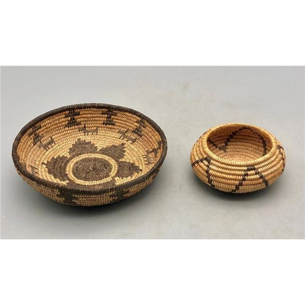 Two Small Sized Apache Baskets