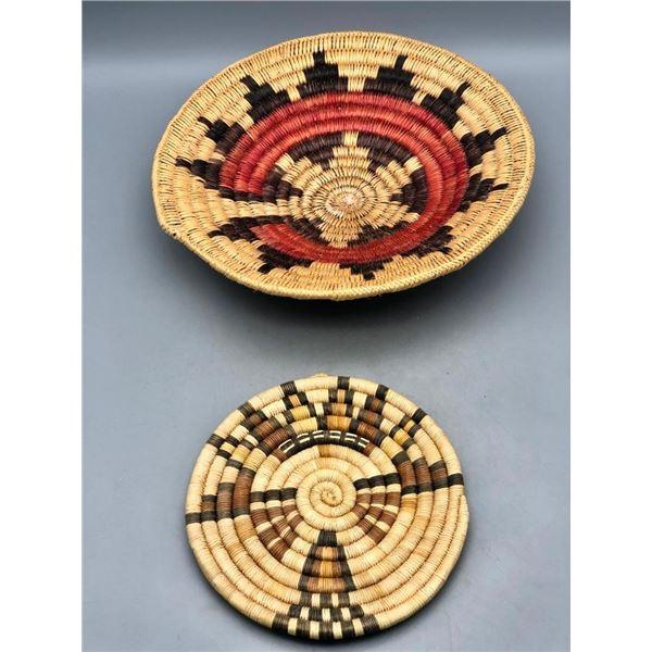 One Navajo and One Hopi Basket