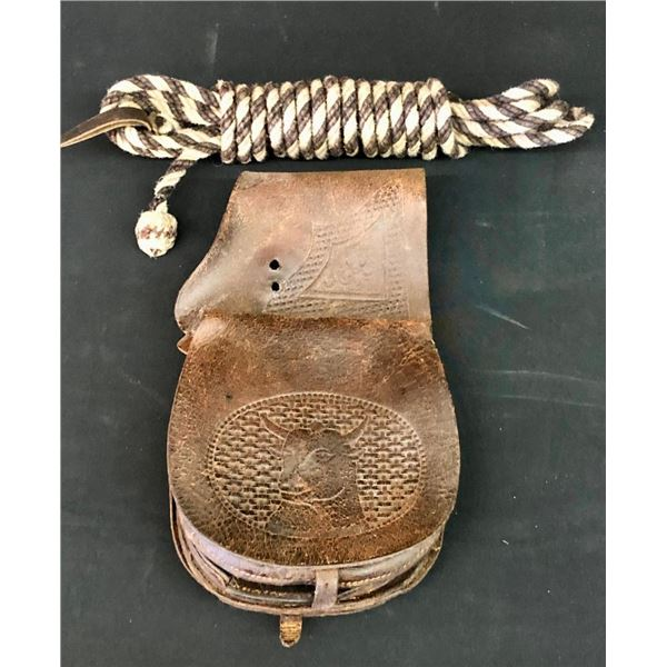 Old Leather Saddlebags and Horsehair Rope