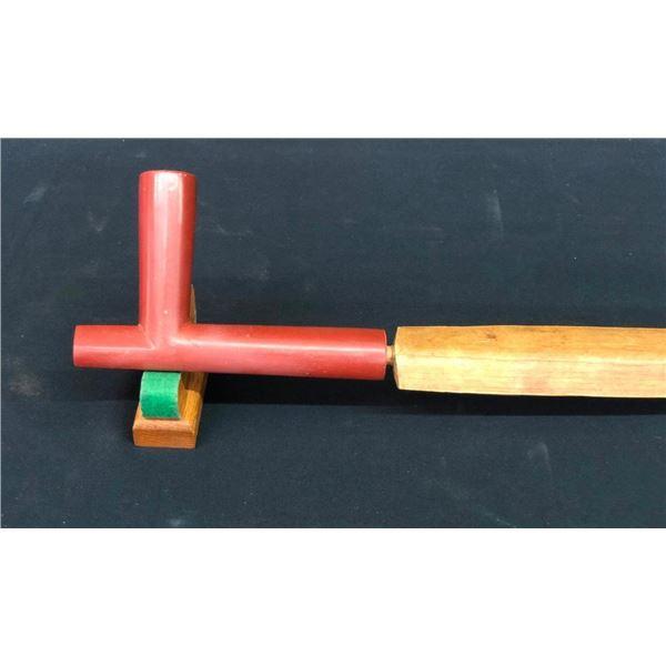 Antique Catlinite Pipe and Wood Stem