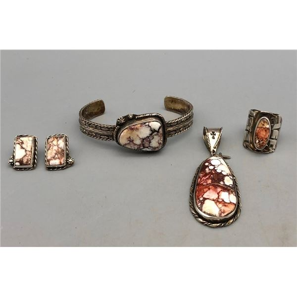 Sterling Silver and Wild-Horse Four Piece Set