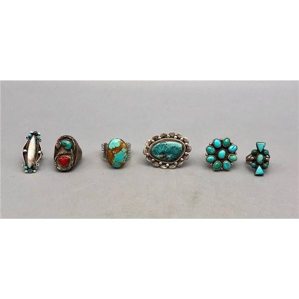 Six Nice Vintage Rings