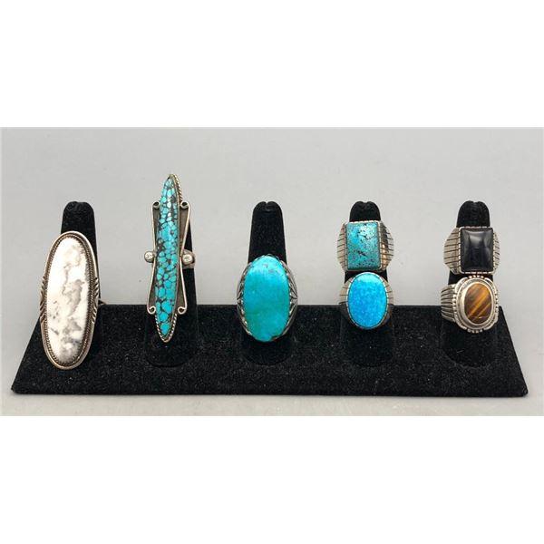 Seven Fabulous Sterling Silver Rings