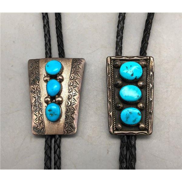 2 Three Stone Bolo Ties