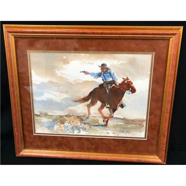 Original Buck Taylor Watercolor