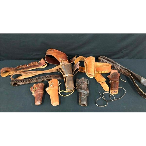 Group of Movie Used Gun Leather