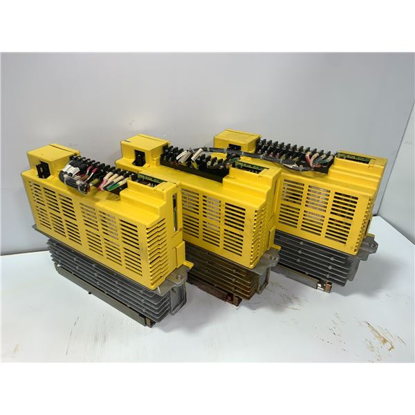 (3) - FANUC A06B-6066-H006 SERVO AMPLIFIER UNITS