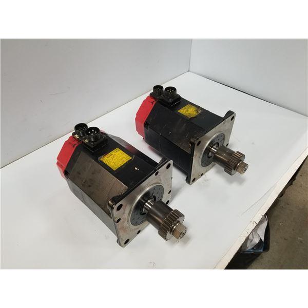 (2) FANUC A06B-0142-B575 AC SERVO MOTOR
