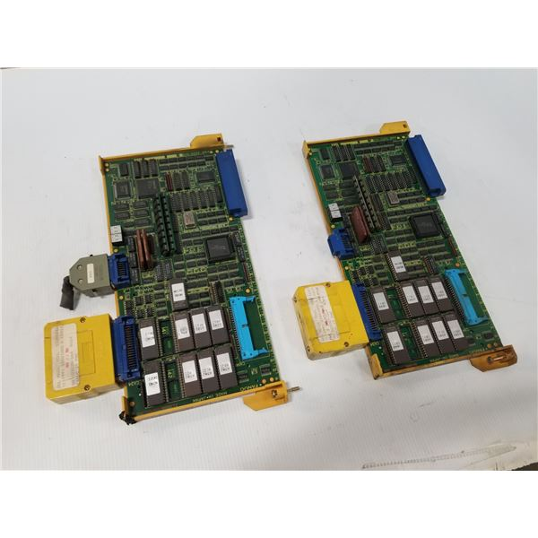 (2) FANUC A16B-2200-0131 CONTROL CIRCUIT BOARD W/ A02B-0094-C103 PMC CASSETTE C *SEE PICS*