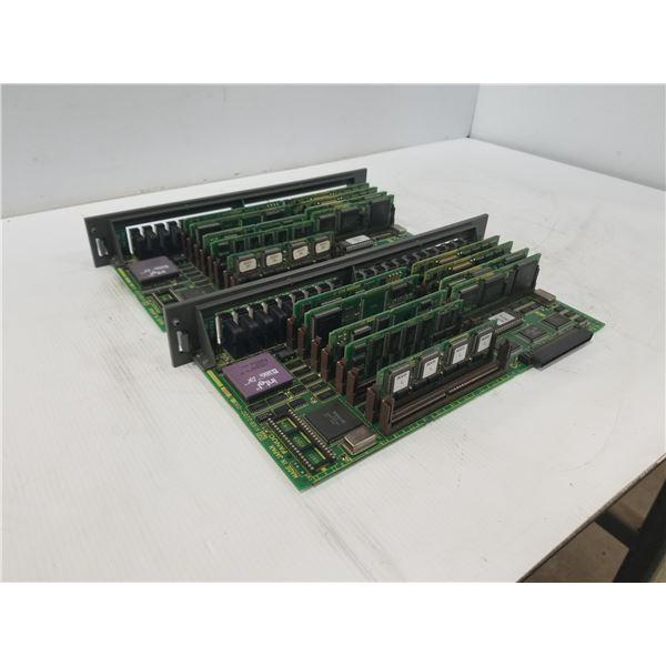 (2) FANUC A16B-2200-090 MAIN CPU BOARD