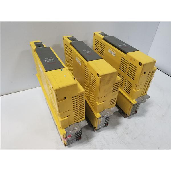 (3) FANUC A06B-6066-H006 SERVO AMPLIFIER