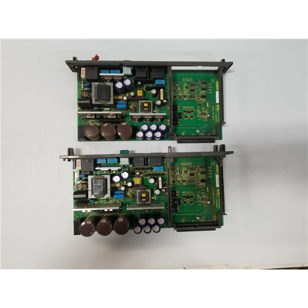 (2) FANUC A16B-2203-0370/13E POWER SUPPLY CIRCUIT BOARD