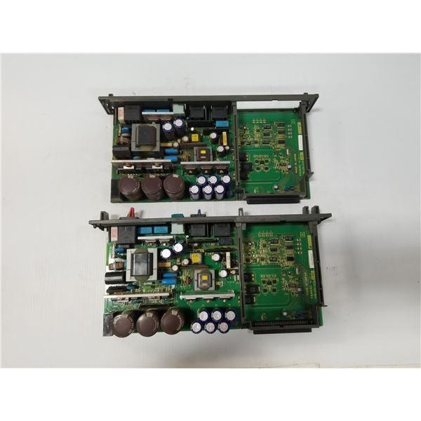 (2) FANUC A16B-2203-0370/13E POWER SUPPLY BOARD