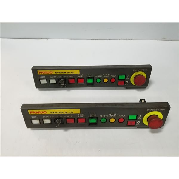 (2) FANUC A20B-9002-0310/02B SYSTEM RJ3 CONTROL PANEL