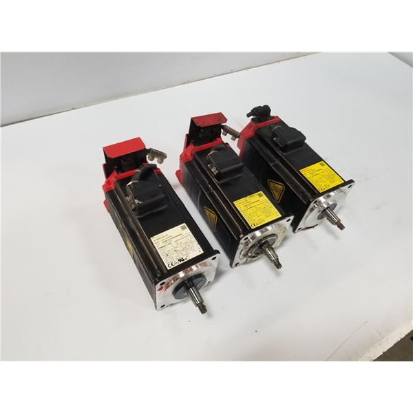 (3) FANUC A06B-0215-B605 AC SERVO MOTOR