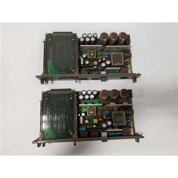 (2) FANUC A16B-2203-0370 POWER SUPPLY BOARD