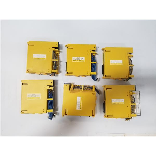 Lot of (6) FANUC A03B-0819-C154 I/0 MODULES
