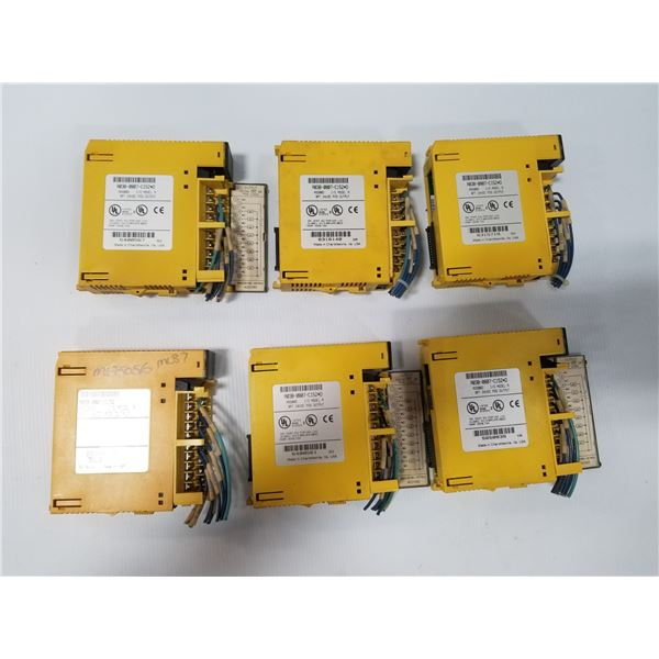 LOT OF (6) FANUC A03B-0807-C152#D I/O MODULES