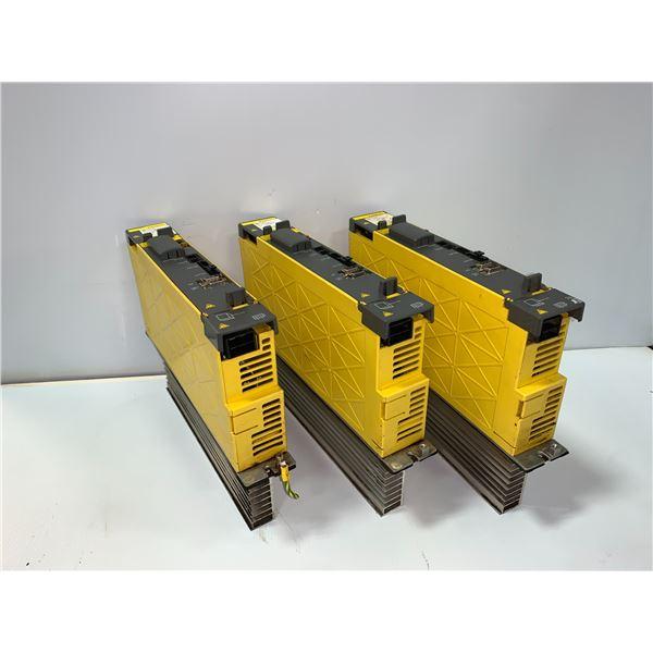 (3) - FANUC A06B-6114-H105 SERVO AMPLIFIER MODULES