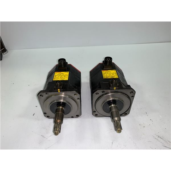 (2) - FANUC A06B-0223-B605 AC SERVO MOTORS WITH A860-2014-T301 PULSECODERS
