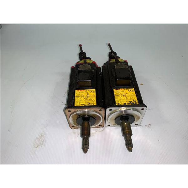 (2) - FANUC A06B-0371-B175 AC SERVO MOTORS WITH A860-0360-T001 PULSE CODERS