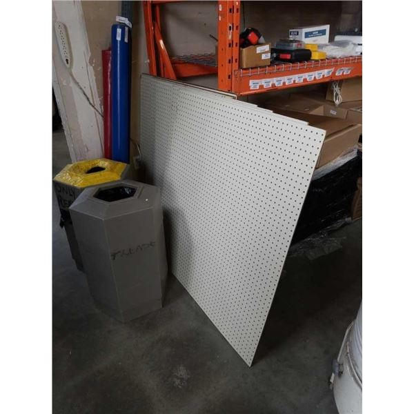 """Lot of pegboard panels 9 total approx 44"""" x 48"""" - 1 panel 36""""x 48"""""""