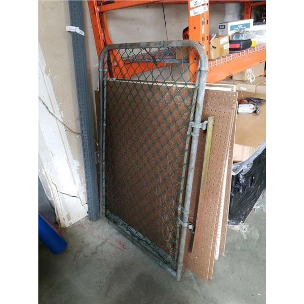 """Chain link gate 38"""" (40"""" with hinge) x 59"""""""