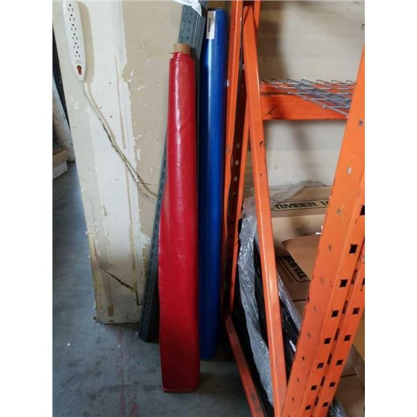 2 rolls of vinyl blue and red