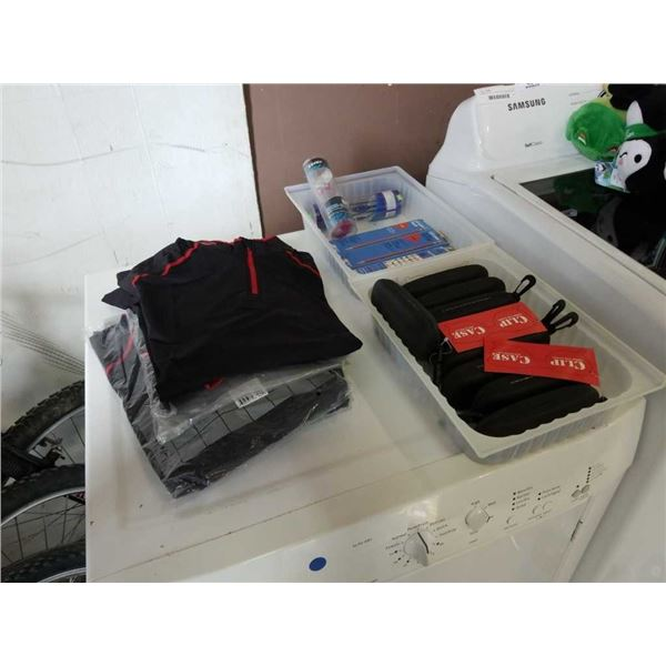 Lot of new first star shirts size L with clip cases, pencils and earbuds