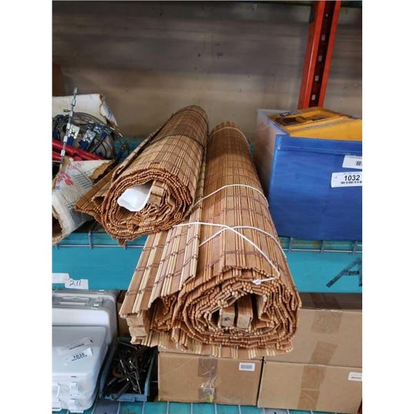2 BAMBOO BLINDS - 62*39 AND 62*30 INCHES