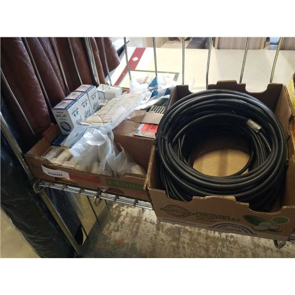 2 TRAYS OF HOSE AND HVAC PARTS