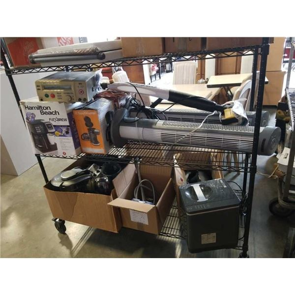 Large lot of store returned appliances and tower fans