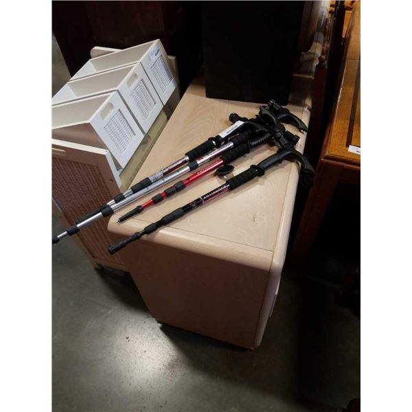 4 new adjustable walking stick/flashlights