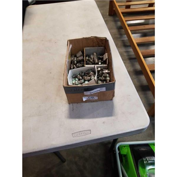BOX OF SWAGELOK AND PARKER FITTINGS