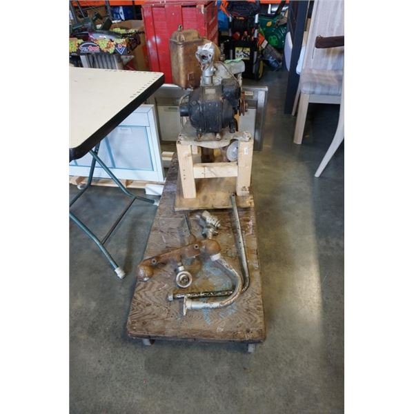 Mechanics for older gas station pump and 4 wheel dolly