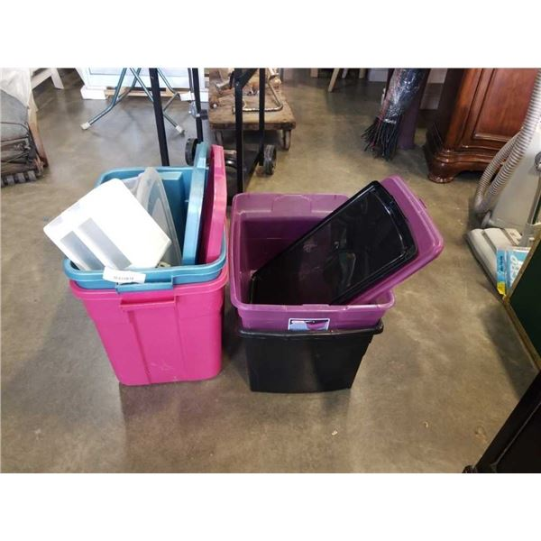 LOT OF TOTES AND BINS