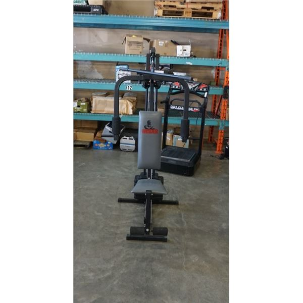 Weider total workout bench with weights