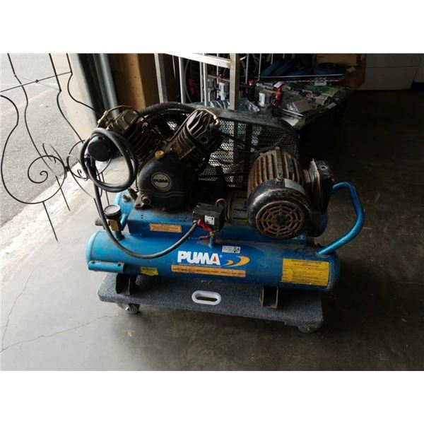 Puma dual tank air compressor working