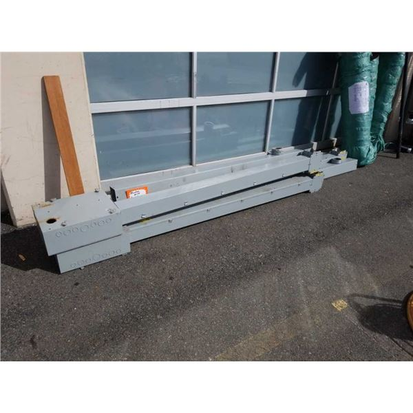 Large metal electrical wire Square conduit and junction boxes