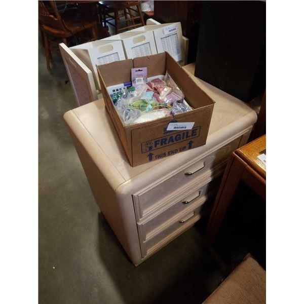 Box of bead jewelry making supplies