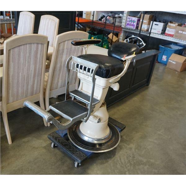 Child's hydraulic dentist chair patent 1907