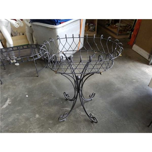 """Decorative metal 3 ft tall by 27"""" long planter"""