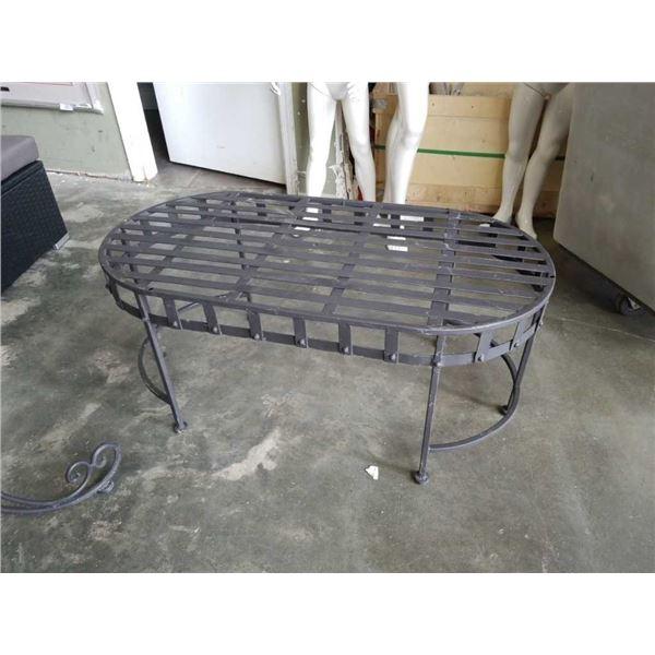 Decorative metal coffee table 39 in Long