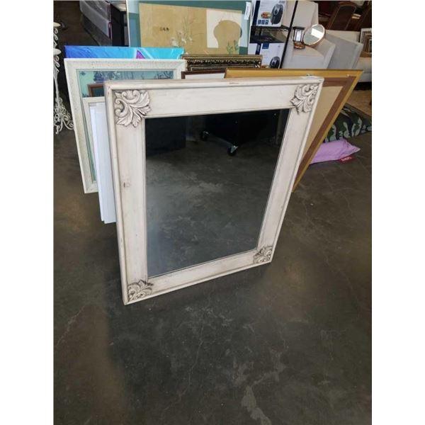 "Antique look framed mirror 37"" x 45"""