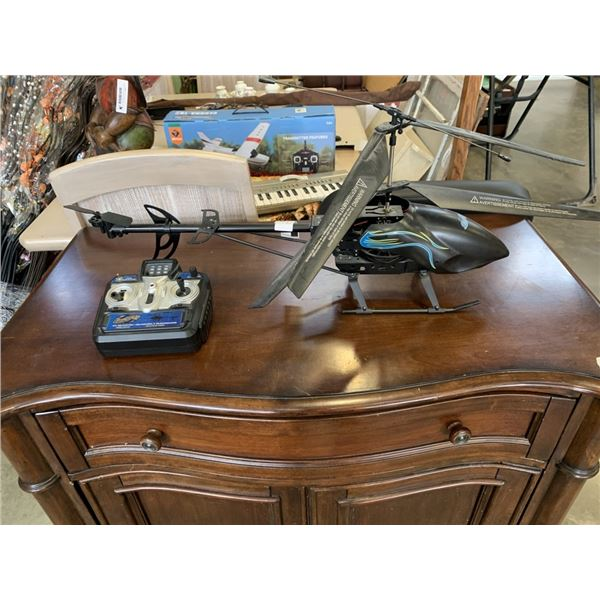 BLACK CAT RC HELICOPTER WITH REMOTE