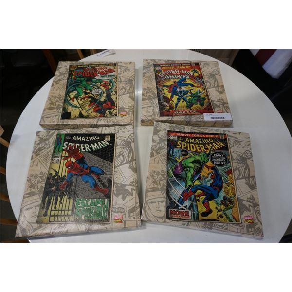 4 spider man canvas prints