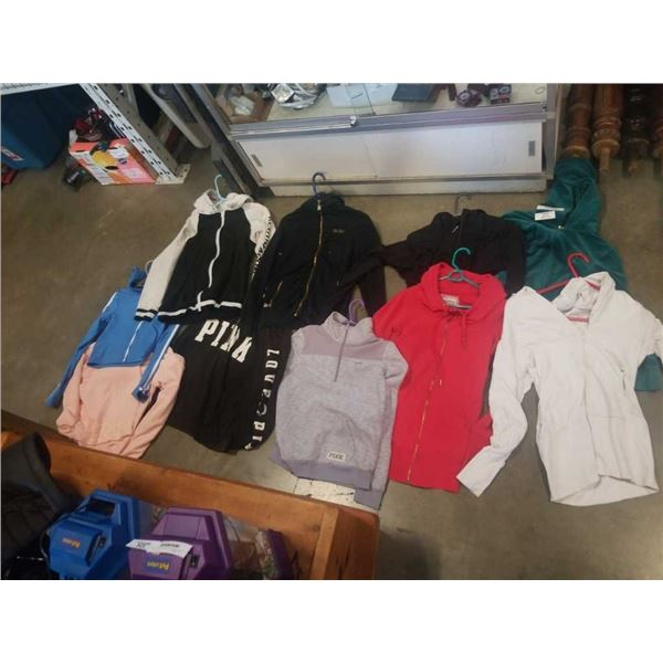 10 hoodies including Juice Couture
